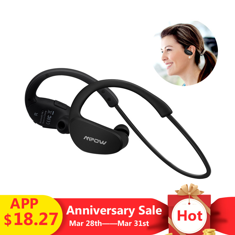 99e190ffc83 Mouse over to zoom in. Mpow MBH6 Cheetah 4.1 Bluetooth Headset Sports  Headphones Wireless Headphone Microphone Sport Earphone For ...