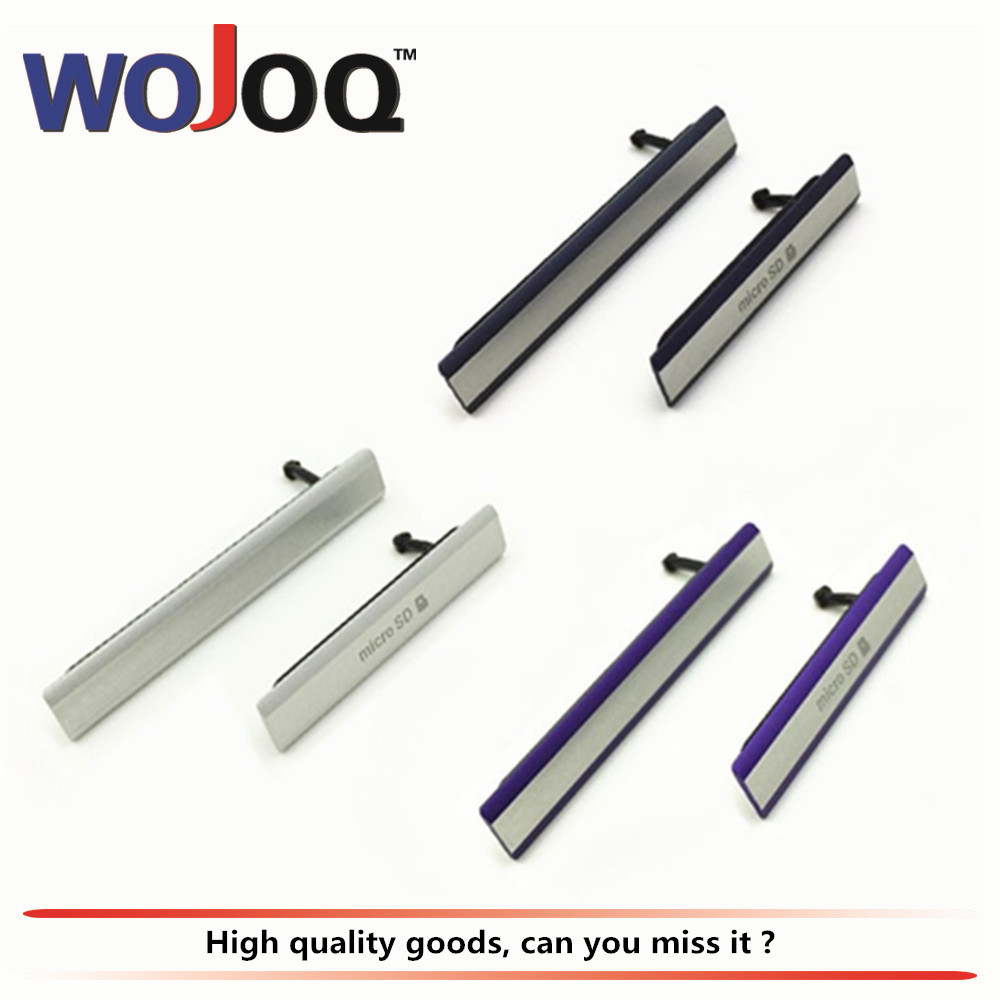 WOJOQ Original Dust Plug Charging Port For Sony Z2 D6503 L50W D6502 D6543 Micro SD USB SIM Card Slot Dust Plug Cover