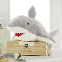 70CM One Piece Soft Shark PP Cotton Stuffed Toy Birthday Gifts Cute Plush Gray Sharks Dolls Sleeping Bedroom Kids Toys