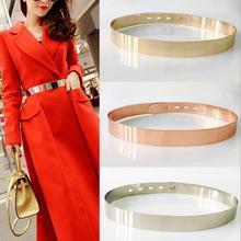 Fashion Women Waist Belt Adjustable Metal Metallic Bling Gold Silver Plate Vinta