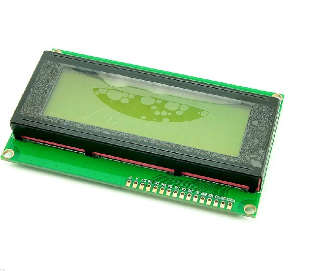 Free Shipping high quality brand new 5pcs/lot 5V 2004A Yellow Green LCD J204A Character 20*4 5V LCD/LCM
