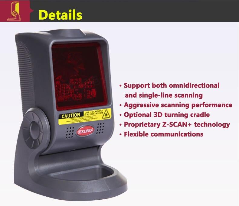 Zebex Z-6030 plataforma de digitalização do código