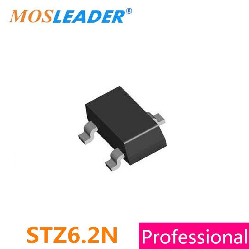 Mosleader STZ6.2N SOT23 1000PCS 3000PCS STZ6.2 Zener High quality mosleader dip pt908 7c f 1000pcs