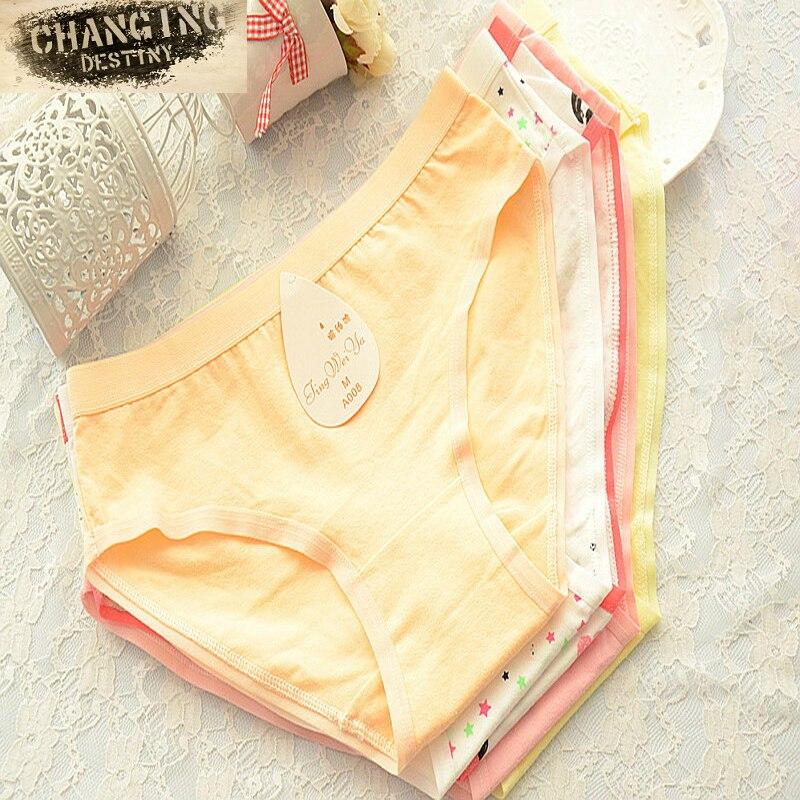 Plus Size L-XXXL 8 Colors Cotton Female Underwear Soft Large Code Women's Panties Briefs Lingerie