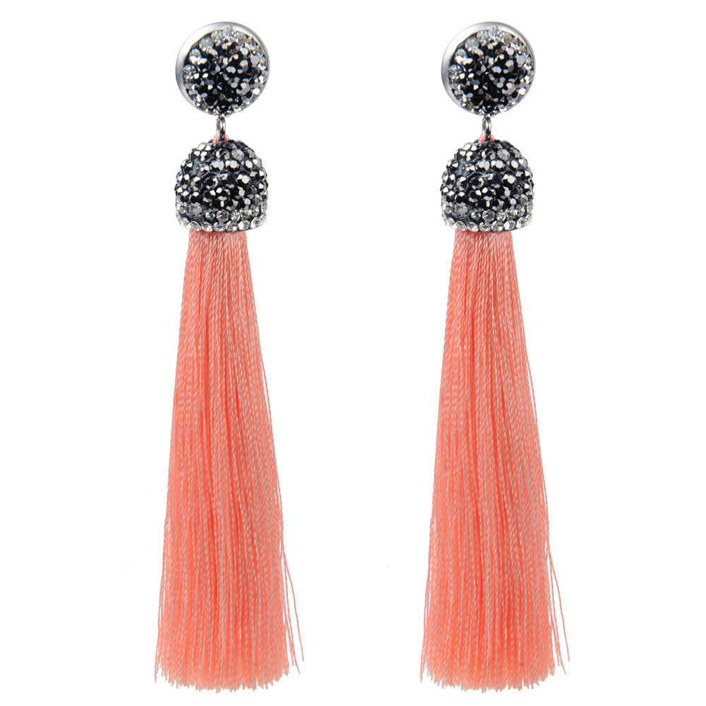 c2e1ce40777 Detail Feedback Questions about Vintage Crystal Fringe Earrings Long Tassel  Boho Drop Dangle Statement Earrings Women Girl Fashion Jewelry For Wedding  Party ...