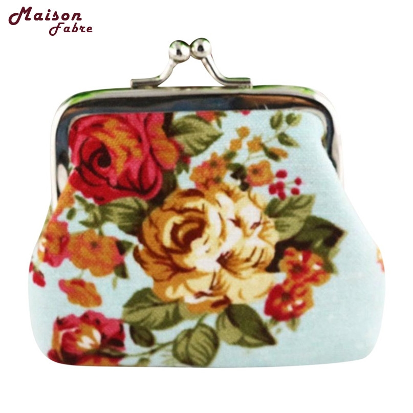 где купить Hot Women Lady Retro Vintage Flower Small Wallet Hasp Purse Clutch Bag drop shipping 0807 по лучшей цене