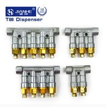 T86 Подгонянный 4 мм объемный распределитель смазочного масла/seperator клапан/делитель коллектор для системы центральной смазки