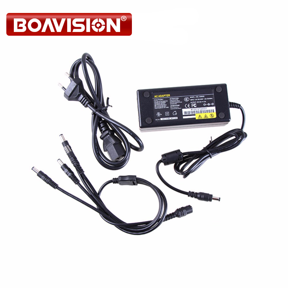 12V 5A 4CH Power Supply CCTV Camera Power Box 4 Port DC+Pigtail COAT DC 12V Power Adapter security camera cctv power supply box dc 12v 5a 9 channels distribution box