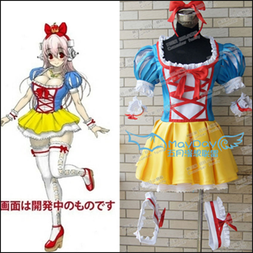 Customized Cartoon Super Sonic the Animation Cosplay Costumes Cute Cosplay Dress for Women Christmas Halloween Party Dress