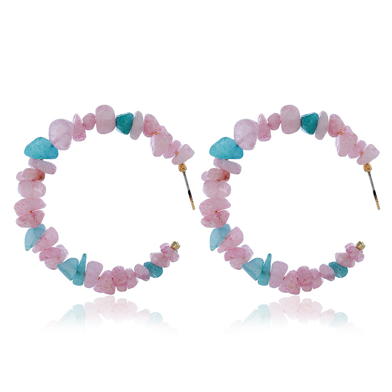 5 Styles Bohemia Colorful Irregular Stone For Women Beach Trip Accessories Friends Gift Korean Pop Sale in Drop Earrings from Jewelry Accessories