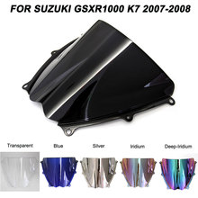 ABS Windscreen For Suzuki GSXR1000 GSXR 1000 K7 2007 2008 Double Bubble  Motorcycle Windshield Wind Deflectors