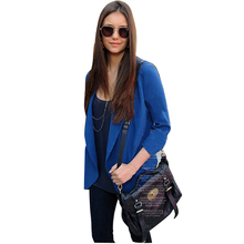 Nice Womens Fall Fashion Solid Zipper Pocket Temperament Slim Small Suit Blazers And Jackets Casacos Feminino JT67