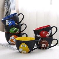 M & M's MM Fasoli Kolor Glazury Ceramiczne Kawy Mleka Szklanki Wody Filiżanka Herbaty Owsiane Cafe Kubek Kubek Do Picia Drinkware Prezent