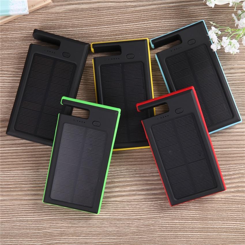 imágenes para Impermeable Solar Power Bank 12000 MAH Dual Cargador de Batería Externo PowerBank carregador portatil para celular de Carga Portátil