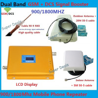 High quality DCS GSM Repeater Amplifier , 2G 4G cellular signal booster LTE mobile phone signal repeater 900 1800 amplifiers