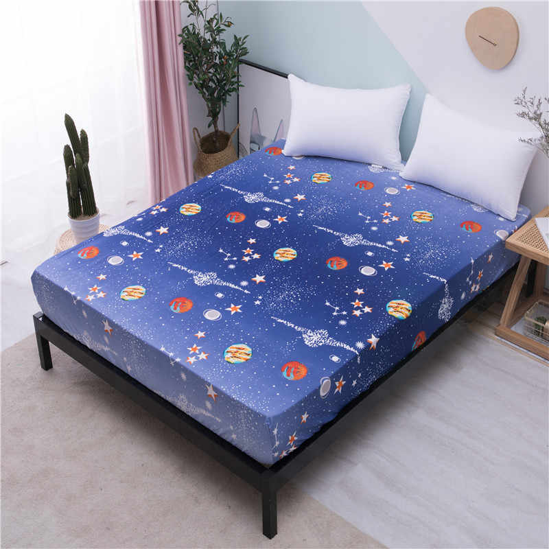 MECEROCK Elastic Rubber Band Fitted Sheets Bed Pad Linen for Bed Sheet Single/double/queen/king Size Can Be Customized Size