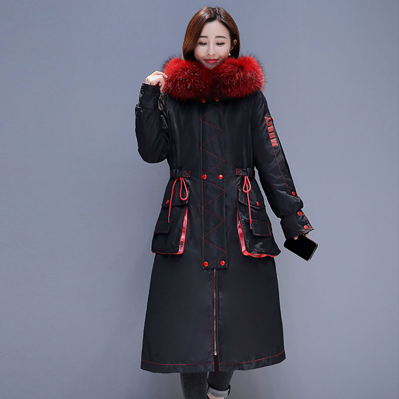 Manteau Vers D'hiver Grand Capuchon Mode Plus Vêtements À Femmes Bas De Chaud Fourrure Blue La 838 Nouvelles red 2019 Le Col Parka Taille Hiver Veste Long xYZqwPwaR