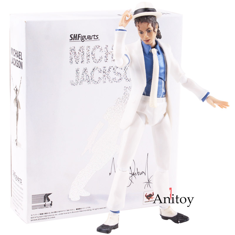 SHF S.H.Figuarts King of POP MJ Michael Jackson Moonwalk PVC Action Figure Collectible Model Toy