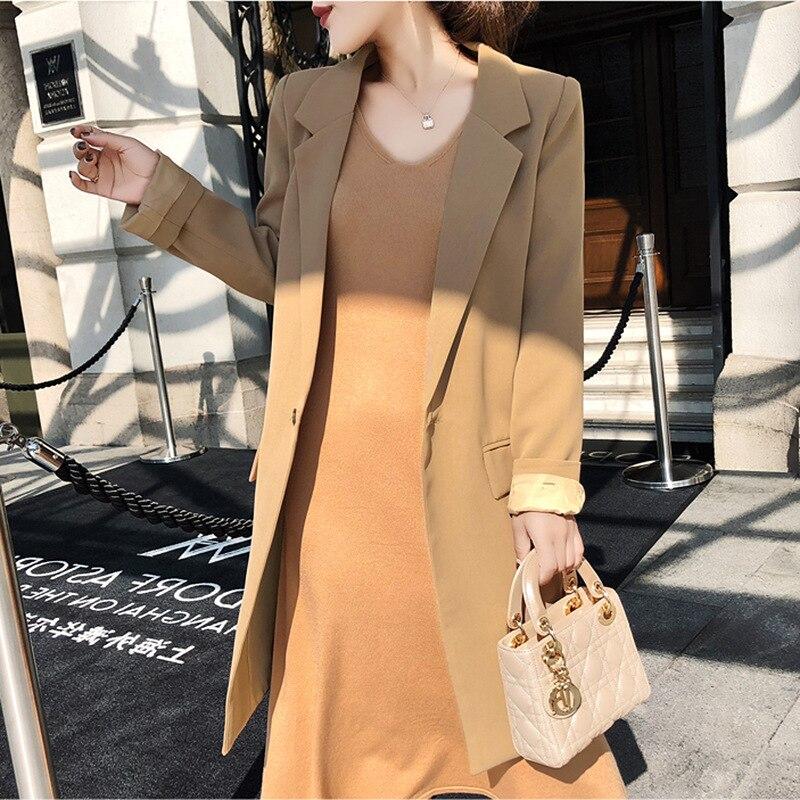 89cd56958 2019 primavera Celebrity Temperament Commuter Ol traje chaqueta + media  falda de punto de dos piezas ...