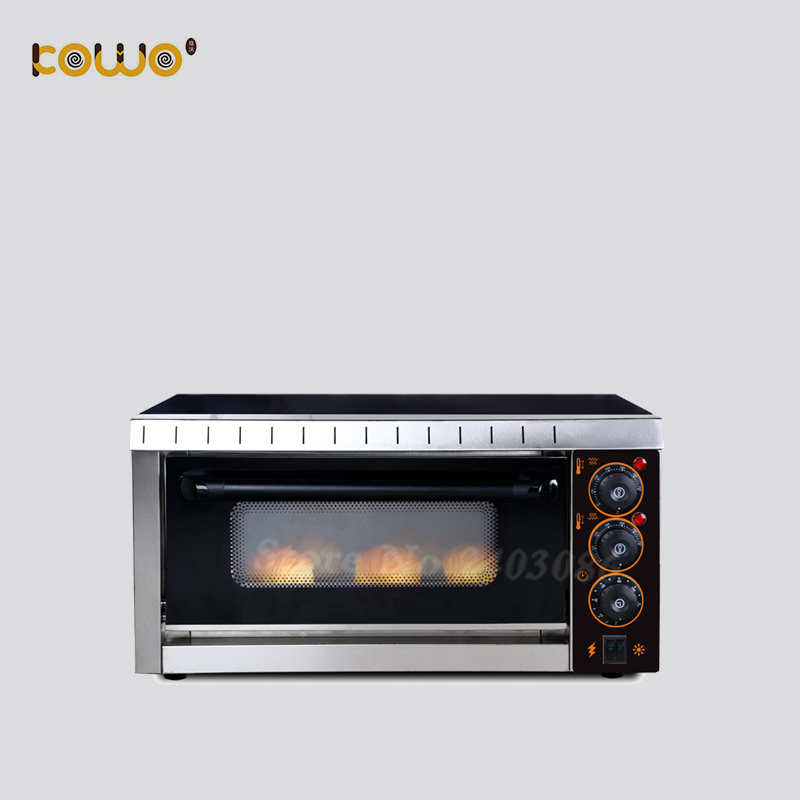 commercial kitchen 1 deck 27L capacity electric pizza bread baking oven bakery equipment machine 220V mechanical timer control цена и фото