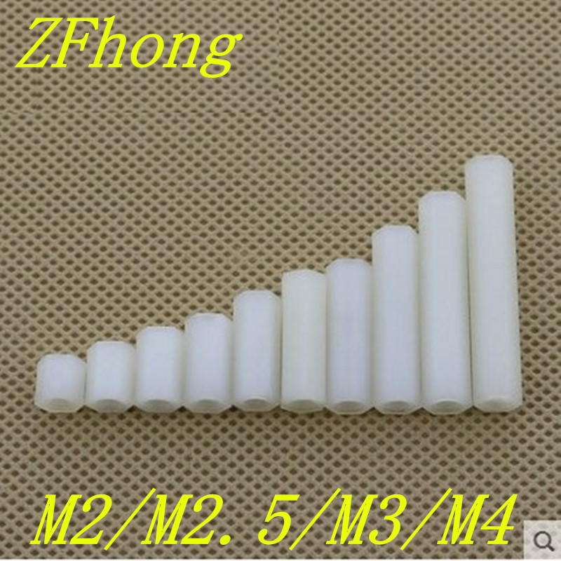 50pcs M2 M2.5 M3 plastic PC female female white hex nylon standoff spacer m3 spacer hex standoff pcb hex nuts nylon black pillar female to female
