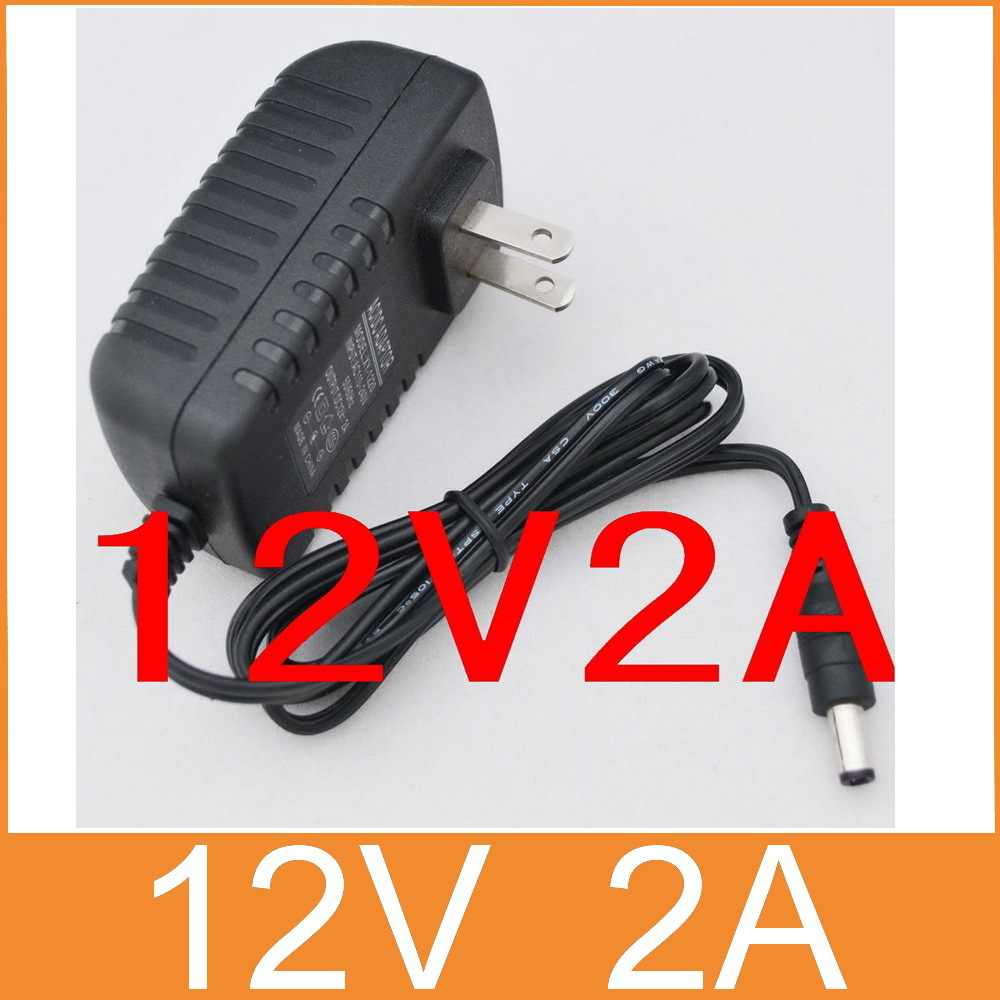 1 шт. AC 100 V-240 V адаптер преобразователя DC 12V 2A 2000mA 24W источник питания US Plug 5,5 мм x 2,1-2,5 мм для Светодиодный CCTV