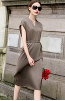 2018 summer new heavy silk dresses with long short sleeved mulberry silk