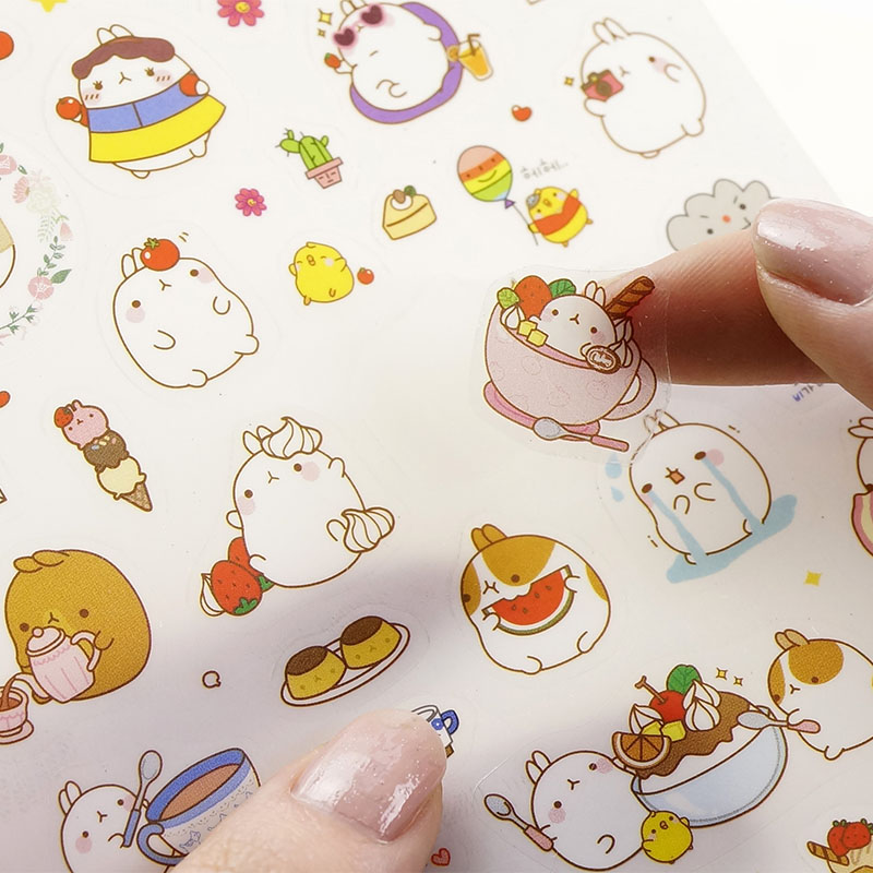 Korean  Cute Lovely Sticker Notebook DIY Decoration Sticky Album Diary Scrapbooking sticker for kids Stationery Stickers button