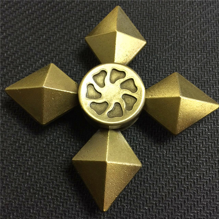 Maze Spinner Fidget Metal Finger Spinner Spinner Hand Four Corners For Autism Adult Anti ...