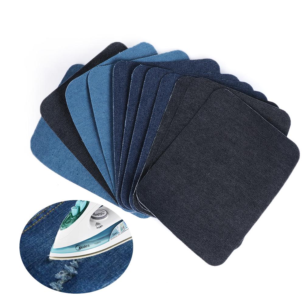 Dark Blue MEXUD Sewing Applique with 2X Iron-on Elbow Knee Repair Decor Faux Suede for Leather Patches