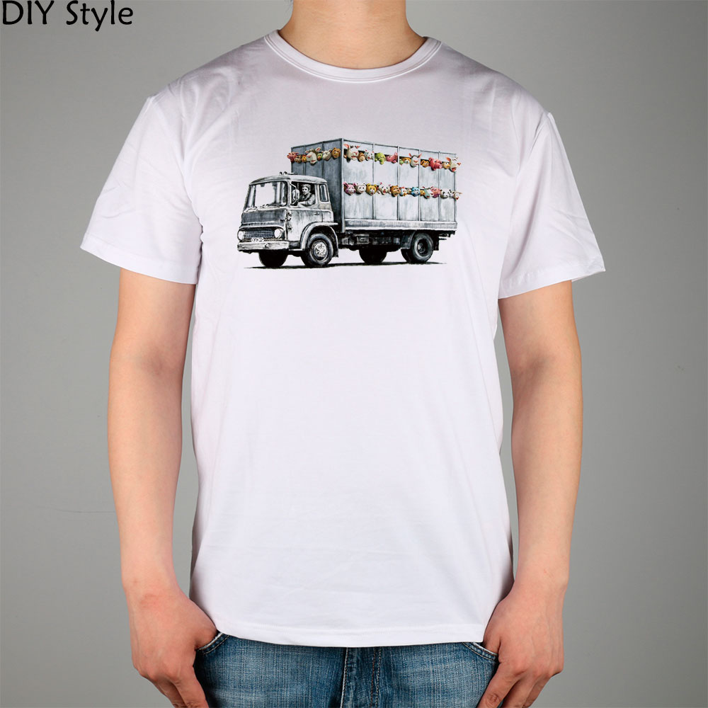Diy Vrachtwagen Lycra Stijl In Banksy Hoge Ic Fashion Brand Nieuwe Shirt Speelgoed Top Katoen T Mannen Kwaliteit 50FO5qpxn