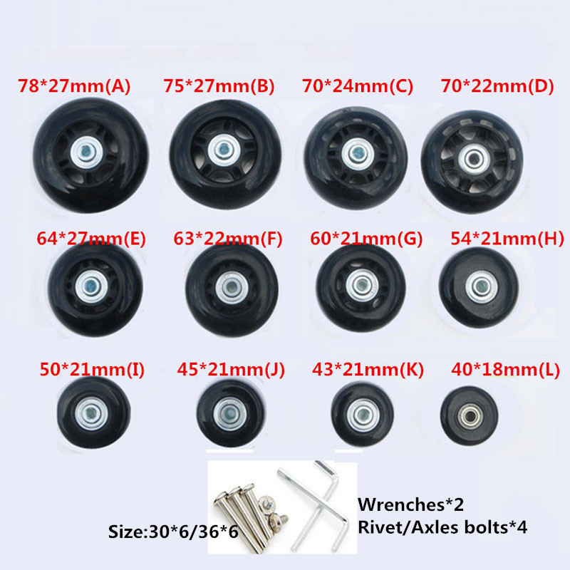 DIY Replacement Luggage Wheels,Repair Rubber Travel trolley Suitcases Wheels for Luggage Parts спортинвентарь nike чехол для плеера на руку nike sport phone band n rn 16 048 os