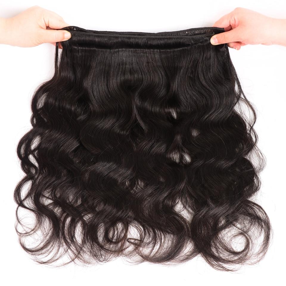 AliPearl Brazilian Body Wave 3 Bundles With Frontal Closure Brazilian Hair Weave Bundles With Frontal 13x4 Remy Hair Extension