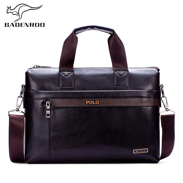 1a621ae1bcf Badenroo Hot Sales Polo Male bags Fashion Famous Brand Business Men  Briefcase Bag Leather Laptop Bag Casual Man Shoulder bags