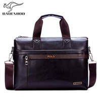 Badenroo Hot Sales Polo Male Bags Fashion Famous Brand Business Men Briefcase Bag Leather Laptop Bag