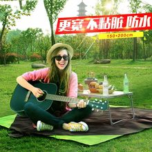 Outdoor hiking picnic mat moisture pad widened to increase turf mat waterproof tent camping mat beach with high quality