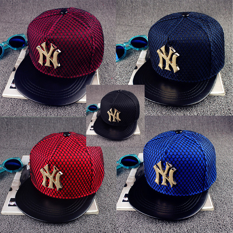 2016 New Adjustable Metal Letters Baseball Caps