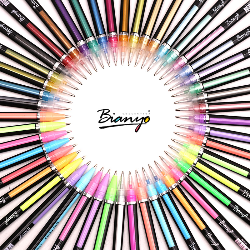 Bianyo Gel Pens 36/48 Colors Cute Colorful Pens School Office Supplies Student Artist Stationery Painting Writing Ballpoint Pens