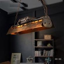 Винтажный подвесной светильник в стиле лофт, промышленный светильник Эдисона для домашнего декора, подвесной Ретро Железный подвесной светильник