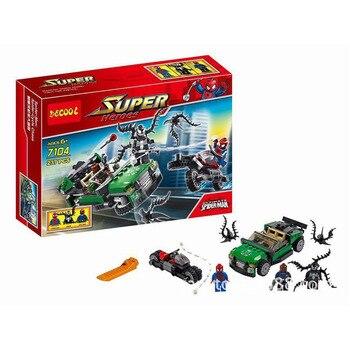 Decool 7104 237 Uds Marvel Super Héroes máximo SpiderMan juego de bloques de construcción DC bloques ladrillos Lepining Juguetes