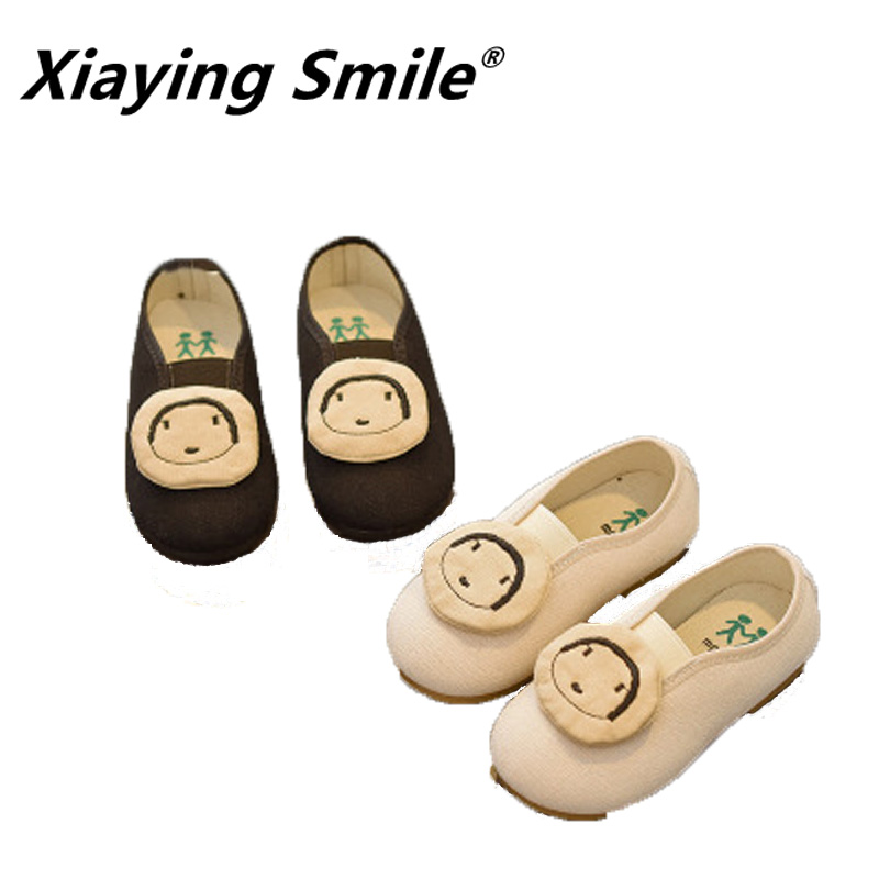 xiaying smile new arrive fashion girls soft sole breathable convenient chidrens casual shose lovely styles simplicity
