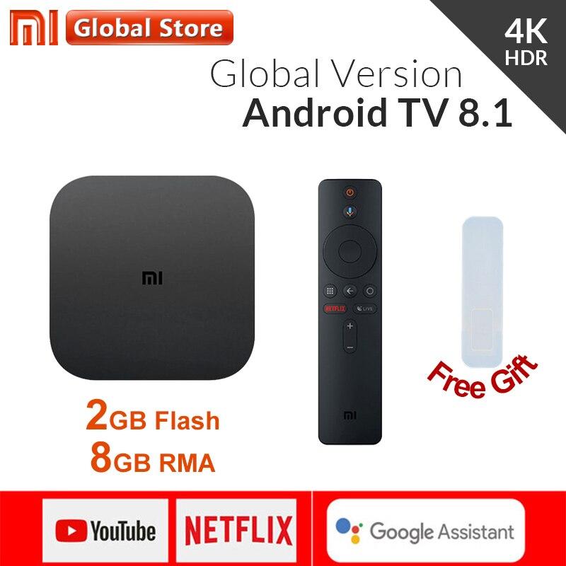 Original Global Version Xiaomi Mi Box S 4 Android 8 1 4K QuadCore Smart TV Box