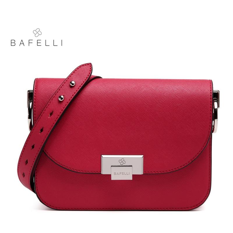 BAFELLI 2018 Luxury Women Shoulder Bags Designer Split Leather Hasp Flap Crossbody Fashion Famous Brands Messenger Bag