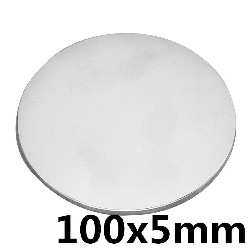 1 pcs 100x5mm N35 Mini Super Forte Rare Terre Réfrigérateur Permanet Aimant Petit Rond Néodyme Aimant 100 * 5mm