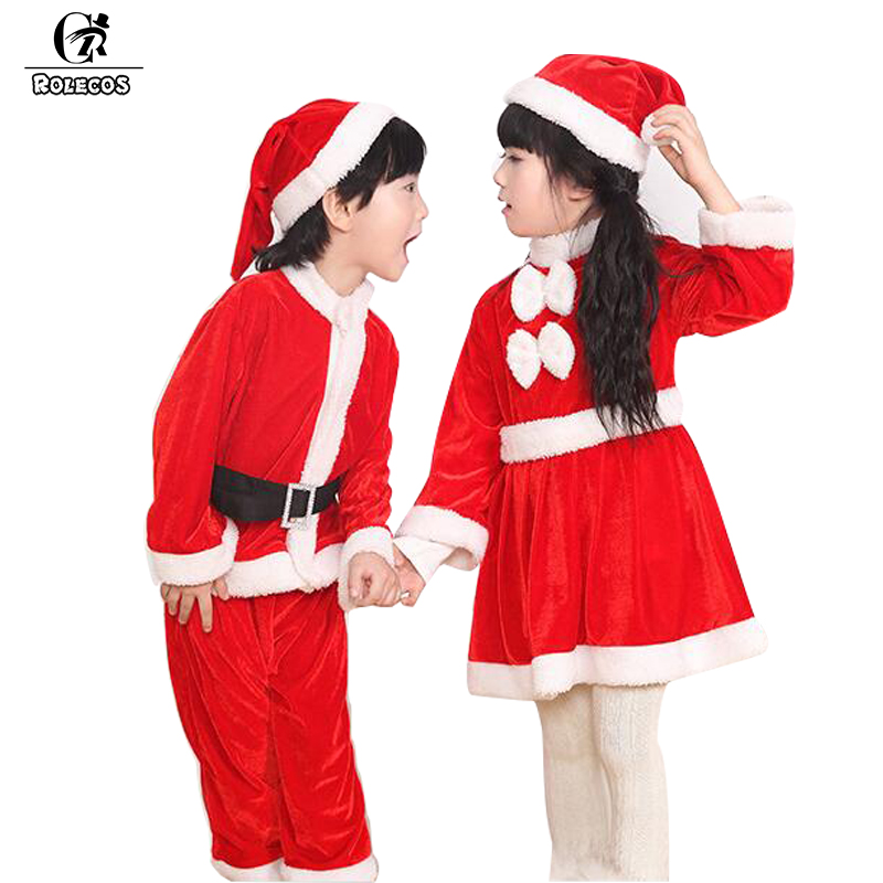 New Year Winter Baby Santa Claus Christmas Costumes For Girls Kids Chlidren Brand Cosplay Costume