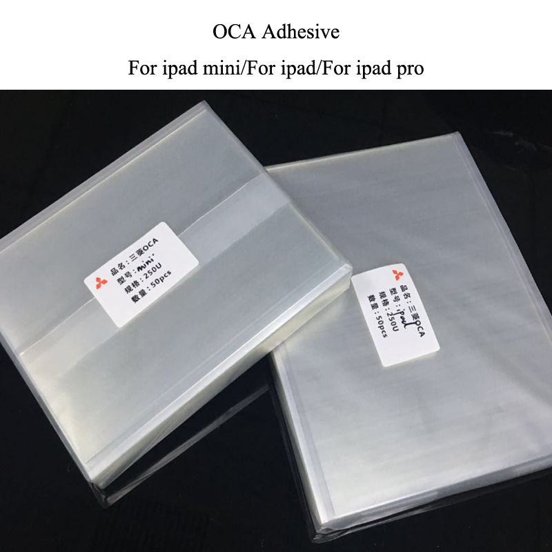 10pcs/lot 250um 7.9/9.7/10.5/12.9 inch OCA Optical Clear Adhesive for iPad 2 3 4 5 6 7 Mini 4 3 2 1 OCA Glue Film For ipad pro-in Phone Sticker & Back Flim from Cellphones & Telecommunications