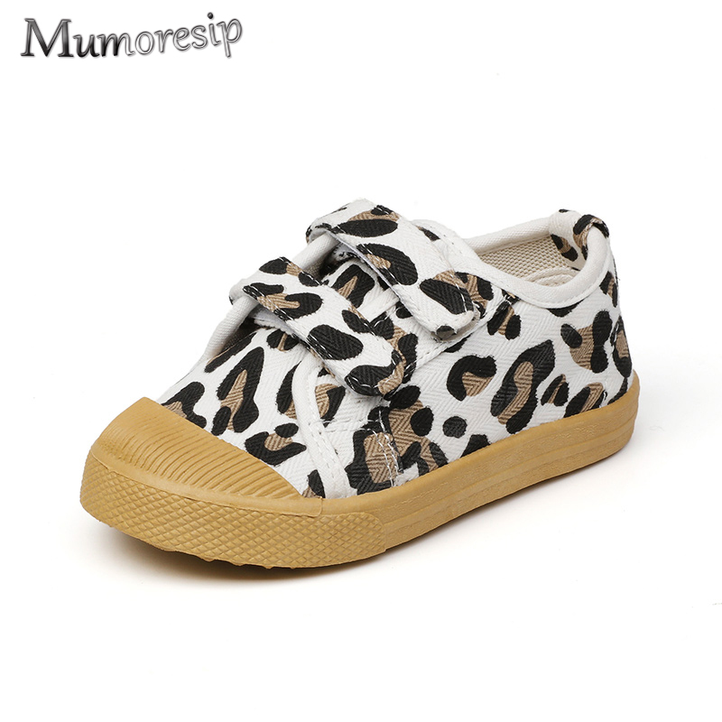 Children's Casual Shoes For Boys Girls Canvas Sneakers Kids Sports Running Shoes With Leopard Prints Fashion Breathable Hot Sale