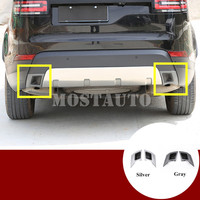 For Land Rover Discovery 5 L462 Exhaust Tail Pipe Trim Cover 2017 2018 Silver/Gray 2pcs