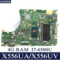 KEFU X556UA/X556UV Laptop motherboard for ASUS X556UA X556UV X556UAM X556UJ X556U X556 Test original mainboard 4G RAM I7 6500U