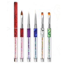 hot deal buy pandahall 1 pc nail art brush pen 5 colors painting drawing manicure nail art tools brush holder